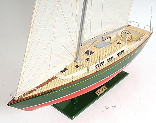 - Handcrafted Omega 46 Sailboat Wooden Model Yacht 30