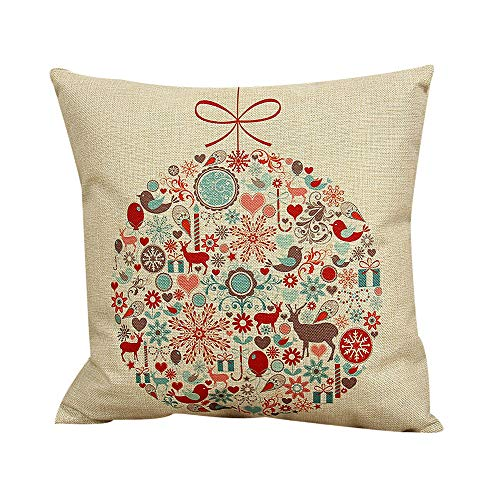 Dressin Christmas Plant Gold Foil Printing Pillow Case Sofa Waist Throw Cushion Cover(a lot of ()