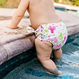 Snap Reusable Absorbent Swimsuit Diaper-White Sea