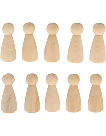 10pcs macho novio claro blanco clavija muñecas Primeros de la torta de boda Figuras de madera