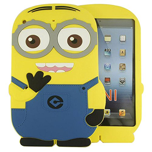 Heartly Cute Cartoon Soft Rubber Silicone Best Back Case Cover for Apple iPad Mini 1 / Mini 2 / Mini 3 Tablet Double Eye