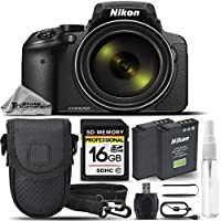 Nikon COOLPIX P900 Digital Camera Built-In Wi-Fi, NFC, and GPS + 16GB SDHC CLASS 10 Memory Card + Replacement Battery for Nikon EN-EL23 + High Speed Card Reader + Case - International Version