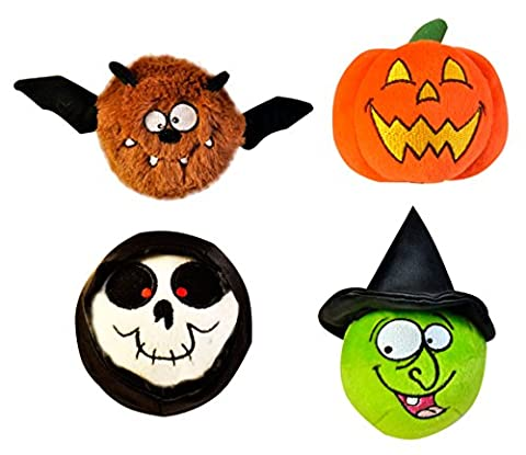 Just For Laughs Halloween Slam Jammers 4-Pack (Bat, Pumpkin, Skull, Witch) (Laughing Dog Ball)