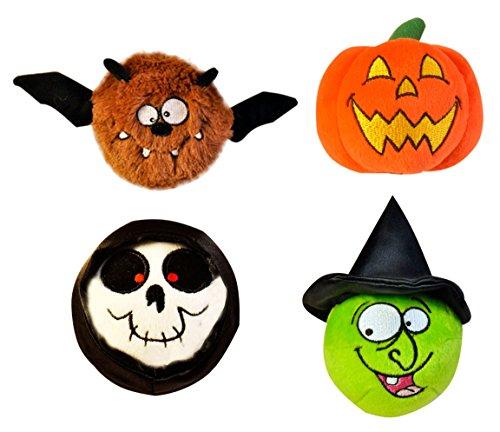 Just For Laughs Halloween Slam Jammers 4-Pack (Bat, Pumpkin, Skull, (Plush Halloween Dog)