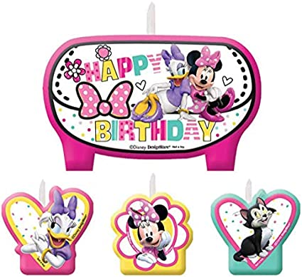 Amazon.com: Party timedisney Minnie Mouse Bow-tique moldeado ...
