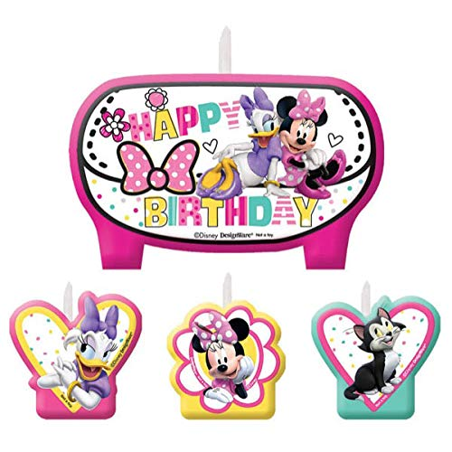 Mini Molded Cake Candles | Disney Minnie Mouse Collection | Party Accessory ()