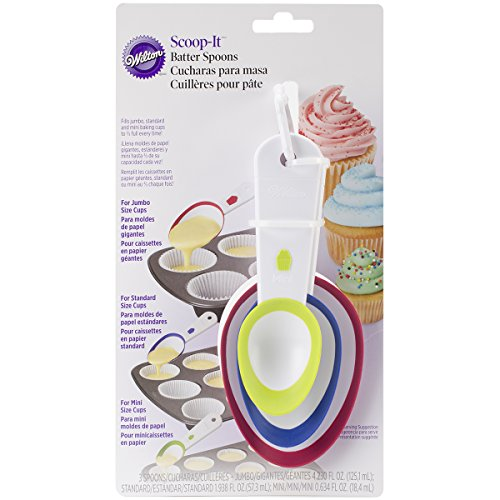 Wilton 2103-1112 Scoop-It Batter Spoons, Set of 3