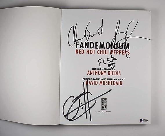 Amazon.com: Red Hot Chili Peppers Fandemonium Signed Book ...