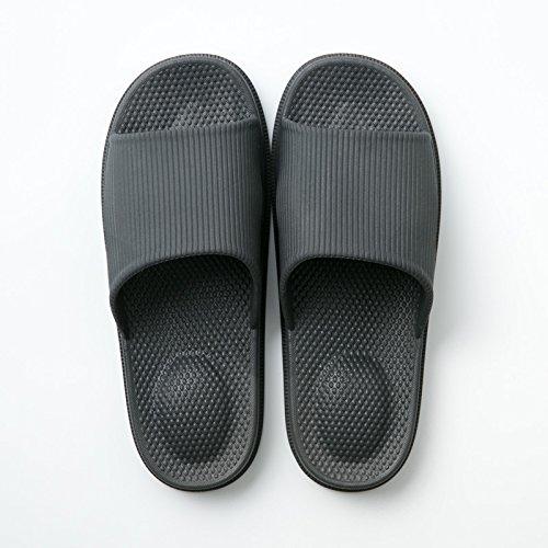 slippers fankou bath summer Male cool 43 slippers Home thick 44 home and slippers home women slippers Black indoor slip anti couples plastic rI7rw4qPx