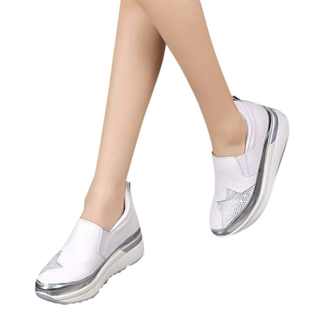Scarpe da Fitness Donna Zarupeng Scarpe Singole con Fondo Spesso//Traspirante Casual Student Sneakers-Donna Scarpe Fitness Dimagranti Outdoor Sportive Anti Scivolo