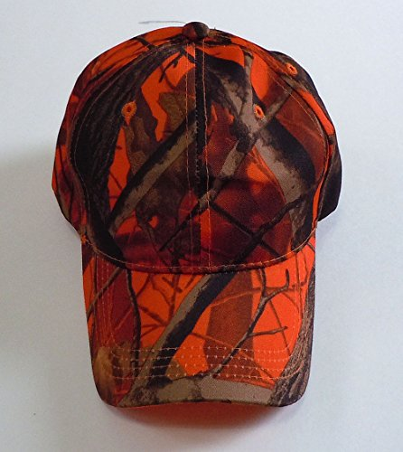 - Camouflage Hat with Hardwood Pattern, 5 Colors to Choose From (Orange Camo)