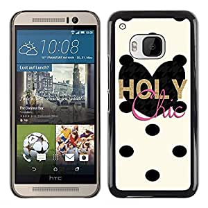 Exotic-Star ( Chick Dalmatian Polka Dot Heart ) Fundas Cover Cubre Hard Case Cover para HTC One M9
