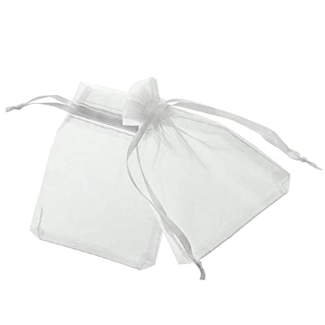 Amazon.com: 100 pcs Dorable Organza regalo de boda bolsas de ...