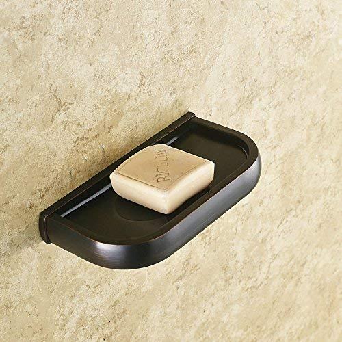 Brass Accents European Soap Dish - Ligsruise European-Style Bathroom Black Antique Black Bronze Solid Brass SOAP Dish, Bathroom Black Wall-Mounted soap Holder