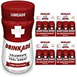 DrinkAde Hangover Prevention Hydration & Liver Detox (24 Pack) with Electrolytes, Vitamin B, Milk Thistle | Only 5 Calories | Vegan, Caffeine-Free, Non-GMO | Previously Never Too Hungover