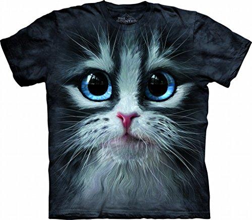 2Bhip The Mountain 1037352 Cutie Pie Kitten Face Adult Unisex Short Sleeve T-shirt Large Gray - Kitten Face