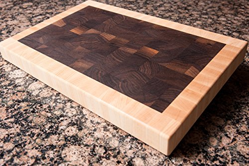Chopping Blox Walnut and Maple End Grain Handmade Wood Cutting Board Large - SPECIAL OFFER (SIXM-W)