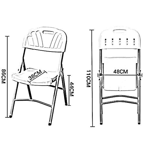 WLG Silla plegable Marco de metal Respaldo Mesa y sillas ...