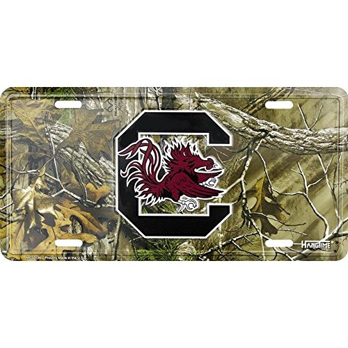 Hangtime MC50126 South Carolina Gamecocks 6 x 12 Camo license plate]()