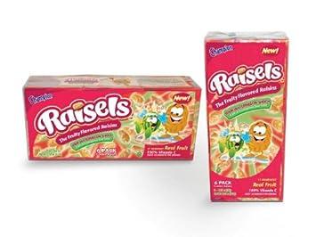 Champion Raisels Sour Watermelon Raisins 125 Ounces 6 Count Mini
