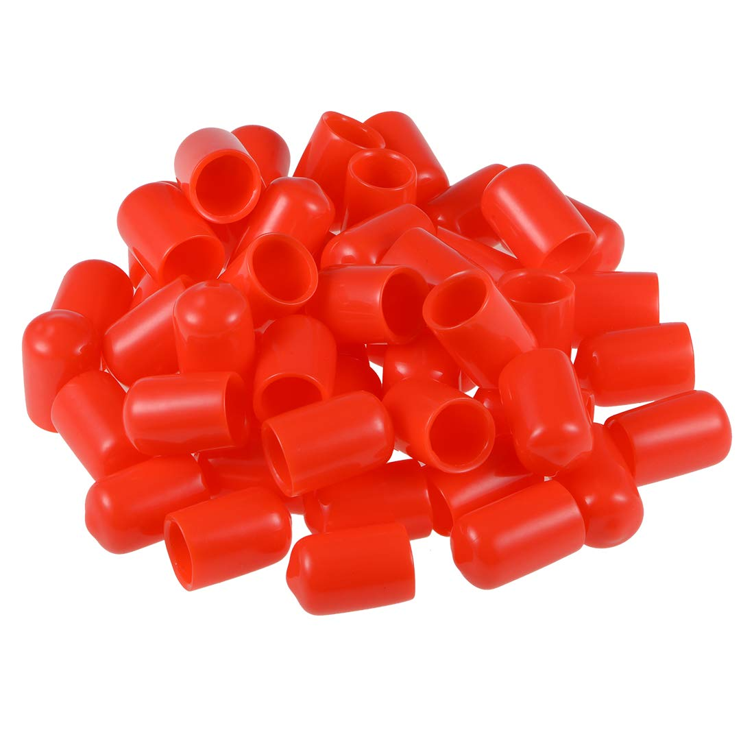 uxcell Screw Thread Protectors 9//16-inch ID Round End Cap Cover Flexible Red Tube Caps 50pcs