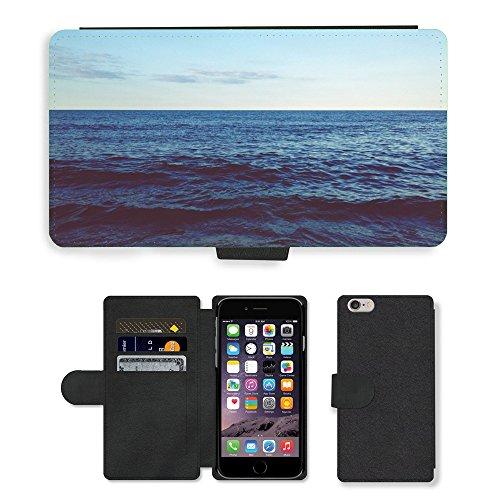 "PU Leather Cover Custodia per // M00421573 Waves Ocean Sea Water Horizon Sky // Apple iPhone 6 PLUS 5.5"""