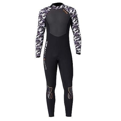 Lixada Traje de Buceo Hombres Neopreno 1.5mm / 3.0mm Térmico Protector UV Traje de Surf para Buceo Libre Surf Nadar