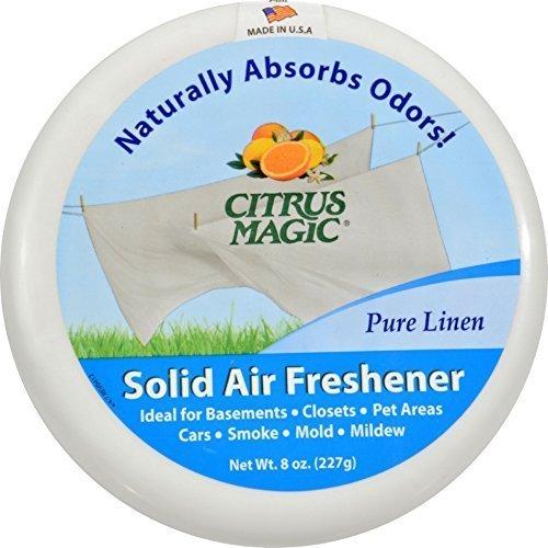 (Citrus Magic Pure Linen Absorb Odor Solid Air Freshener, 8 Ounce - 6 per)