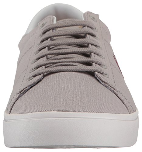Fred Perry Canvas Sneaker Silver Spencer C1BFwC
