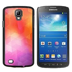 TECHCASE---Cubierta de la caja de protección para la piel dura ** Samsung Galaxy S4 Active i9295 ** --Geometría de neón