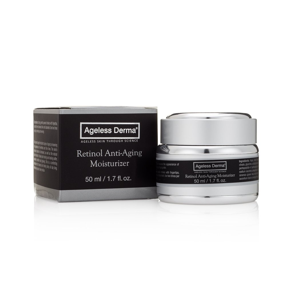 Ageless Derma Retinol Anti Aging Face Cream by Dr. Mostamand is an Wrinkle Facial Moisturizer for a Firmer Youthful Skin Tone and Texture