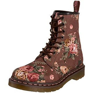 Dr. Martens Women's 1460 Re Invented Victorian Print Taupe