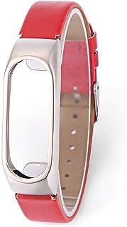 XXIAZHI,Bracelet en PU pour Xiaomi Mi Band 2(Color:Rouge)