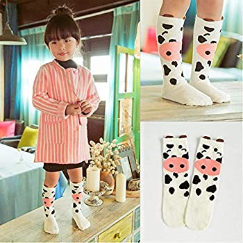 1-3 Years Old ANBET Cute Animal Knee High Cotton Socks for Baby Boys Girls 3 Pairs Unisex Baby Knee High Socks