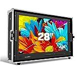 LILLIPUT BM280-4K 28'' 4K 3840×2160 Ultra-HD resolution, 1000:1 Contrast Ratio, 25ms Response Time with Carry-on Metal case 3G-SDI, HDMI, VGA, AV input by VIVITEQ