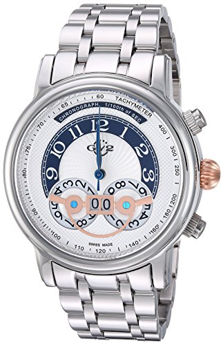 GV2 by Gevril Men's 'Montreux' Quartz Stainless Steel Casual Watch, Color:Silver-Toned (Model: 8101B)