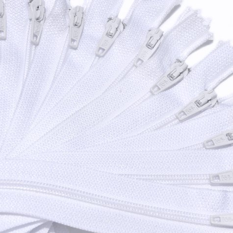 7 Nylon Coil Zippers Special ~ Closed Bottom ~ 501 White (12 Zippers / Pack) by ZipperStop Distributor YKKつ   B0055DKJY4