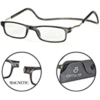 Magnetic Reading Glasses - Adjustable Readers with Expandable Temples - Optix 55