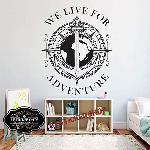 BYRON HOYLE Pirates Captain Kids Wall Decal Sticker Bedroom Pirate Map Treasure Gold Island Cartoon Kids Boys Girls Teenager Room 1794RE