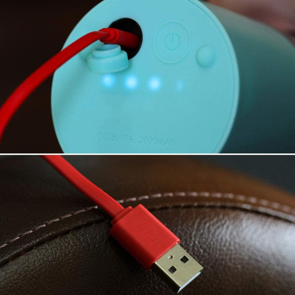 ZXYY Licuadora eléctrica USB Exprimidor Mini Licuadora portátil Licuadora de Frutas Personal 4 Cuchillas 2000mAh Batería Recargable 500ML Rojo Red