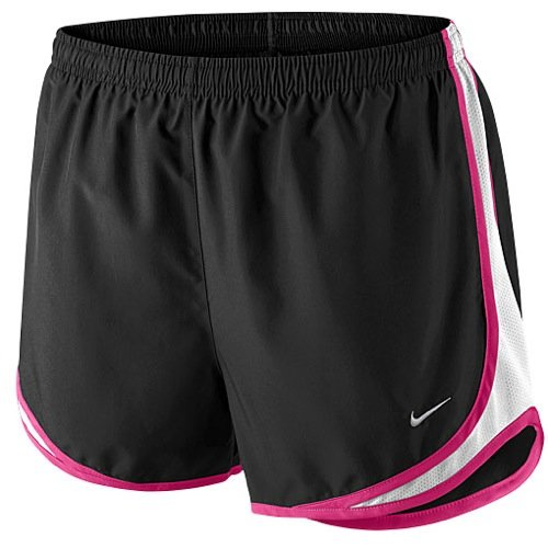 Nike Women's Tempo Short, Black/White/Vivid Pink/Matte Silver, MD X 3.5 by Nike