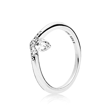 e720ab494 Amazon.com: PANDORA Classic Wish Ring 925 Sterling Silver - 197790CZ ...
