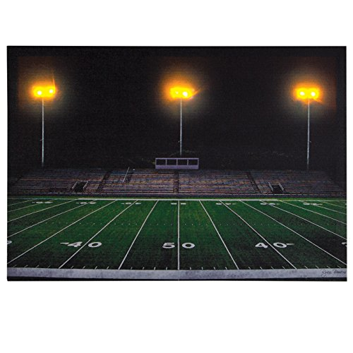 Ohio Wholesale Football Field Canvas Radiance Lighted Wall Art
