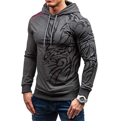 Rankei Fashion Hoodie Sweatshirts 3D Dragon Print Casual Hooded Hip Hop Sportswear,XXX-Large,Darkgray by Rankei outerwear