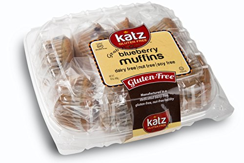 Katz Gluten Free Individual Wrapped GRAB 'N' GO Blueberry Muffins, 16 Ounce, Certified Gluten Free - Kosher - Dairy Free, Soy Free & Nut free (Pack of 6)