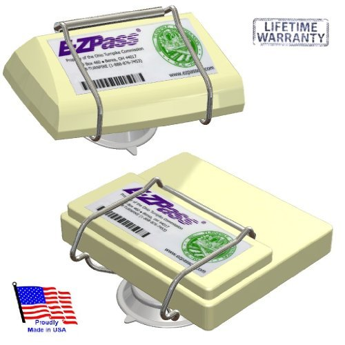JL Safety EZ Pass-Port -  Indestructible Holder fits Mini and OLD size EZ Pass (not the Flex or HOV switch models), I Pass, I Zoom, PalPass hard case and - Pass Holder Toll