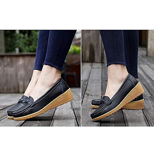 Kurphy Zapatos Cordones Flecos Gruesa La Transpirable Ultraligeros Con Madre Calzado Suela Sin Planos Para Antideslizante Mujer rpwxAdrqF