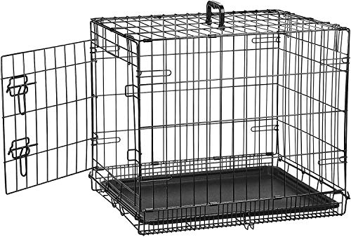 AmazonBasics Single Door Folding Metal Cage Crate For Dog or Puppy - 24 x 18 x 20 Inches from AmazonBasics