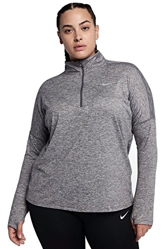 NIKE Womens Plus Running Fitness 1/4 Zip Pullover Blue 1X by NIKE