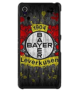 Bayer 04 Leverkusen Fuball GmbH Sony Xperia Z2 Funda Case Famous Football Team Simple Logo Pattern + Pretty Classy Kawaii Some Colour Back Cover Slim Stylish + Back Protection (Not for Z2 V / Z2 Compact)